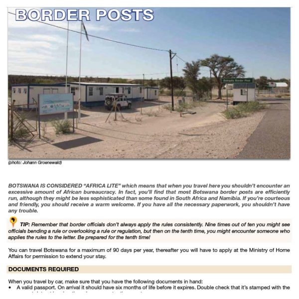 Comprehensive Border Post Information